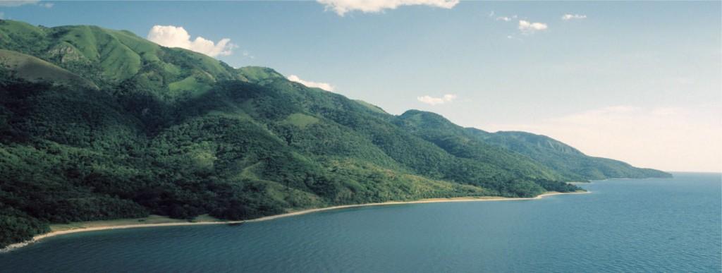 Blick auf den Gombe Stream Nationalpark und Tanganyikasee