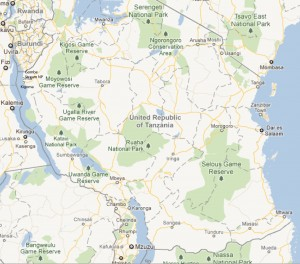 Nationalparks in Tansania | © googlemaps